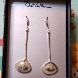 Robert Lee Morris SOHO Silver Long Dangle Earrings